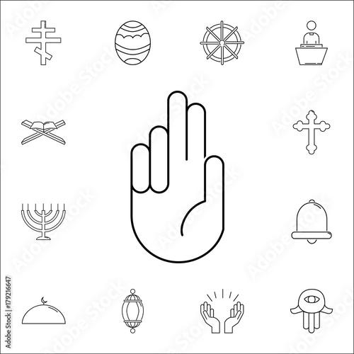 Meditation Hands Icon Set Of Religion Icons Web Icons Premium