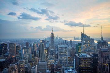 Dusk in New York