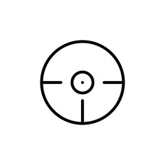 Premium crosshair icon or logo in line style