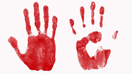 Abstract bloody hand background