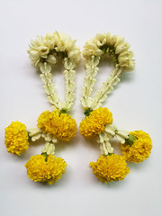 Flower garland isolated