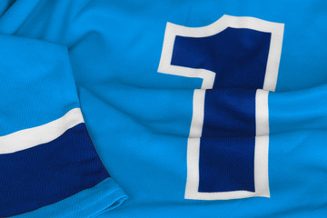 Hockey sweater light blue with number one