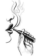 Lips and vaporizer