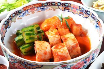 Tradition Korean kimchi in the bowl