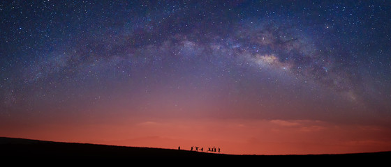 Detail of the milky way, panoramic view UltraWide 21:9 Resolution