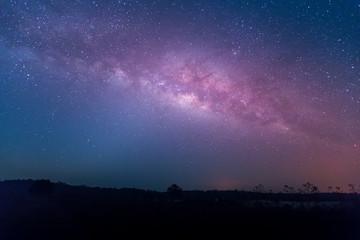 star, astronomy, Milky Way Galaxy, Long exposure photograph with grain at  Thung Kamang nature park, Chaiyaphum, Thailand