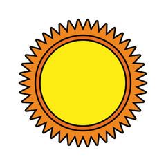 colored sun  over white background  vector illustration