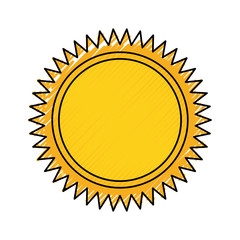 colored  sun over white background  vector illustration