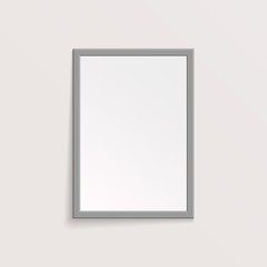 3D Picture or Photo Frame Design. Vector Illustration.