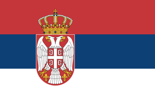 Official vector flag of Serbia