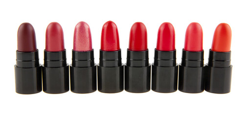 lipstick isolated on white background closeup