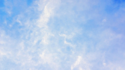 Blue sky with a cloud for a background.