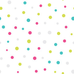 Seamless dots pattern with white background. Vector repeating texture.
