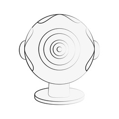 Webcam pc technology icon vector illustration graphic design