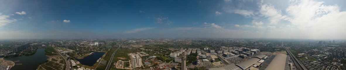 Panorama in city
