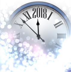 2018 New Year luminous background.