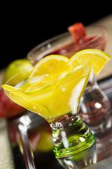 Orange drink cocktail