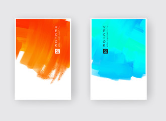 Watercolor design banners