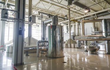 Brewing production - mash vats.