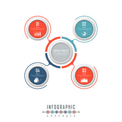Vector timeline infographics template for chart, diagram, web design, presentation, workflow layout