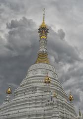 Stupa at Wat Prasingh Chiang Mai Lanna Thailand
