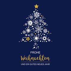 Weihnachtsbaum mit Weihnachtsdeko Vektor Illustration