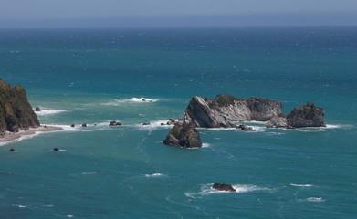 Knight point New Zealand coast