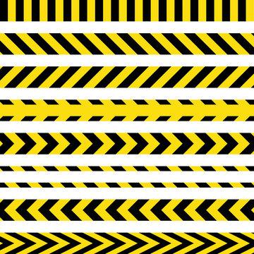 yellow and black danger ribbons