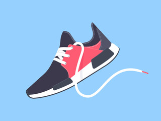 Sneakers. Sport shoes. Shoes for running. Vector illustration