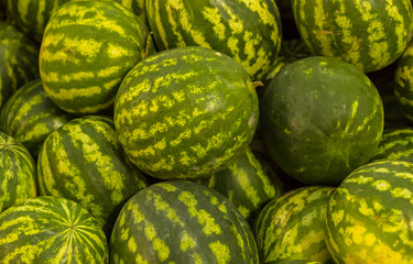 Watermelon close-up background pattern, natural delicious snack, autumn harvest