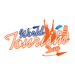 World Tourism Day Logo Vector Template Design