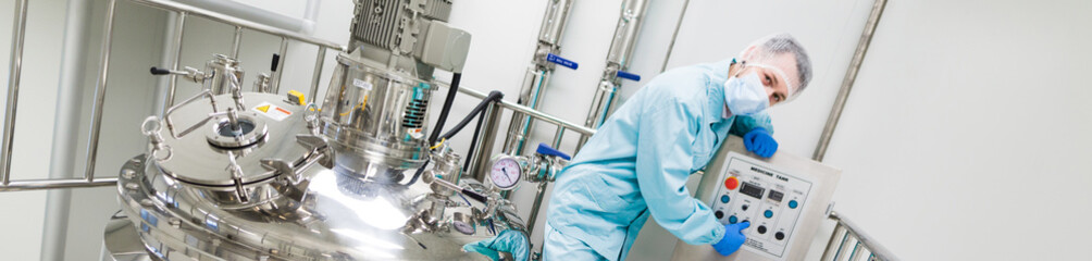 scientist check equipment