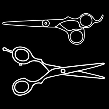 Barber scissors illustration.