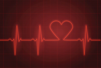 Vector illustration of heart pulse.