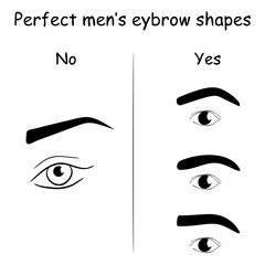 How to shape men's brows.