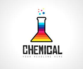 Creative Chemical Colorful  Logo design for brand identity, company profile