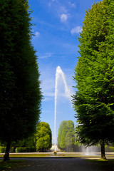 Herrenhäuser Gärten mit großer Fontäne