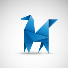 pegaz origami wektor
