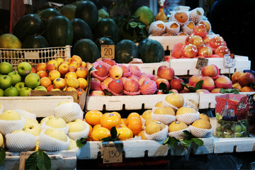 A variety of fruits and vegetables in market,Thailand