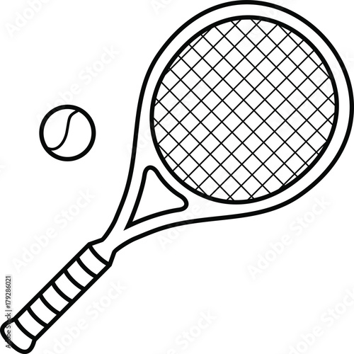 Big Tennis Racket Tennis Ball Stock Image And Royalty Free Vector