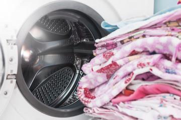 washing machine. clothes laundry.