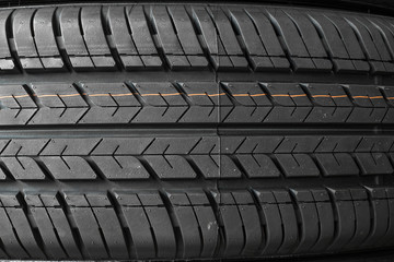 Tire textured for background. rubber