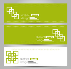 Banner template. Abstract background for design,  business, education, advertisement. Green color. Vector  illustration.