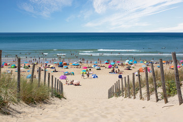 Cap Ferret -Dune, Plage, Océan, Touristes en vacances d'été