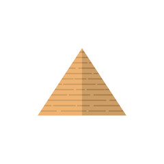 vector flat big egypt pyramid icon. Ancient stone building - shrine or tomb of pharaohs. Isolated illustration on a white background.