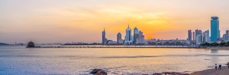 Qingdao city landscape and skyline