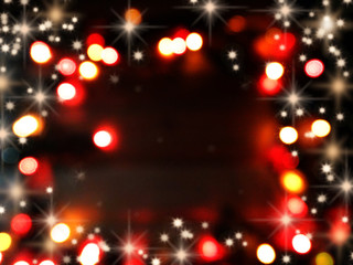 abstract background soft blurred christmas lights garland