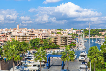 View of  Porto Cristo town, Palma Mallorca, Spain
