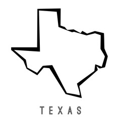 Texas geometric map