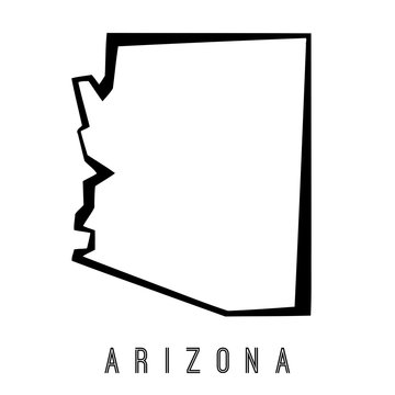 Arizona geometric map